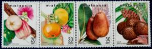 Malaysia Scott # 684-7 Rare Fruits of Malaysia Series II Stamp Set MNH