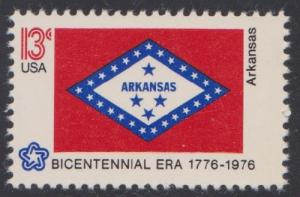 1657 Arkansas State Flag F-VF MNH single