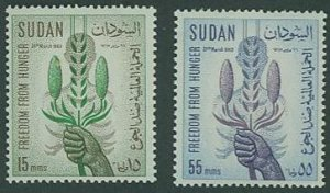 British Sudan SC# 160-1 Corn and Millet set MH