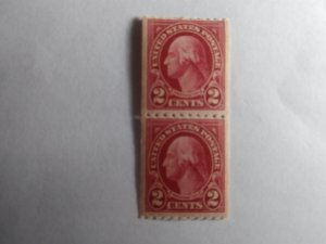 SCOTT # 606A TYPE 11 MINT NEVER HINGED PERFERATED 10 HORIZONTAL COIL PAIR  !!!!
