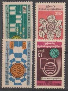 Burma SC 257-60 Mint Never Hinged
