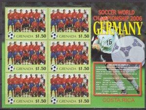 2006 Grenada 5707KL 2006 FIFA World Cup Germany( Costa Rica ) 9,00 €