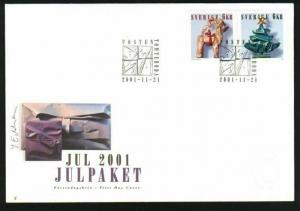Sweden.  FDC 2001 Christmas Stamps. Christmas  Decorations