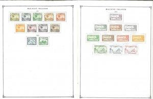 Maldive Islands 1951-1994 Mint Hinged on Scott International Pages Thru 1999