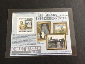 Unión Des Comores Impressionists  Mint Never Hinged Imperf Stamp  Sheet R38710