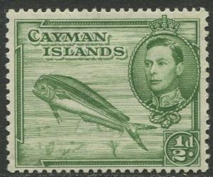 Cayman Islands - Scott 101- KGVI Definitive -1938-43 - MH- Single 1/2d Stamp