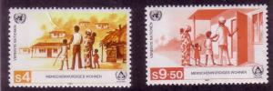UN Vienna Sc# 68 / 69 Shelter for the Homeless MNH