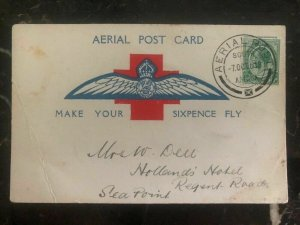 1918 South Africa Aerial Post Postcard Cover To Sea Point Cape Town