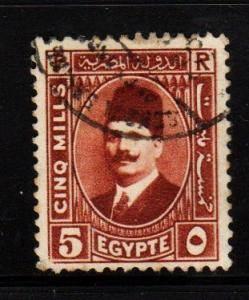 Egypt - #135 King Faud - Used
