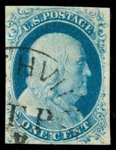 momen: US Stamps #9 Used VF/XF