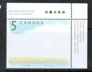 Canada #1693a Extra Fine Never Hinged Missing Moose Variety **With Certificate**