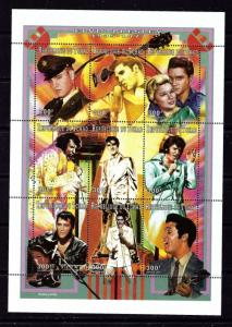 Chad 711A NH 1997 Elvis Presley sheet of 9