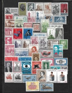 COLLECTION LOT OF 57 ITALY STAMPS 1956+ MLH