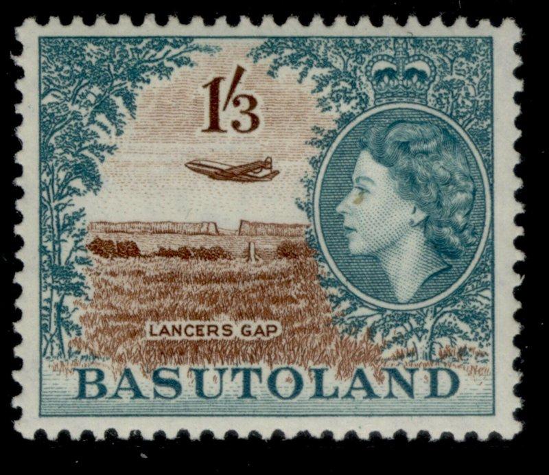 BASUTOLAND QEII SG50, 1s 3d brown & turquoise-green, LH MINT. Cat £28.