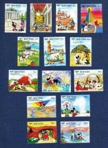 BHUTAN - # 952-979- MNH set & 14 S/S - Seven Wonders of the Ancient & New World