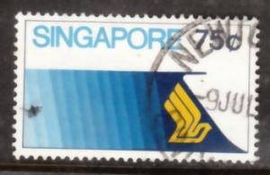 Singapore 1973 Sc 177 Aviation 75c Used