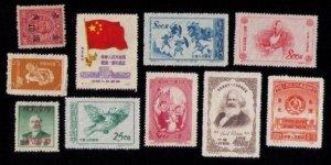China 1950s MNH,(10 ea)No gum  , A Few  Faults, (Possible Reprints) F-VF