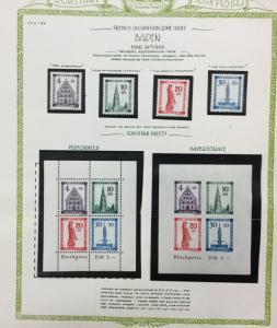 (BJ Stamps) GERMANY, Baden, 5NB5-5NB8, 5NB8a + b, 1949 MNH. CV$160.00