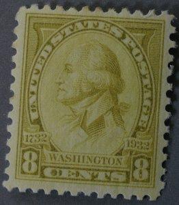 United States #713 8 Cent Washington Bicentennial MNH