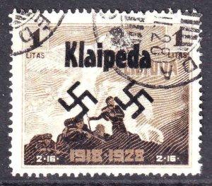 LITHUANIA 232 WW2 KLAIPEDA OVERPRINT CDS VF SOUND