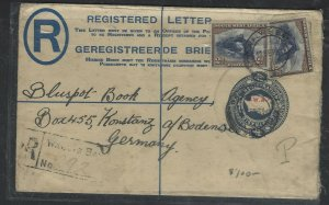 SOUTH WEST AFRICA COVER (P0405B) 1931 KGV 4D RLE+ 2DX2 REG COVER TO GERMANY