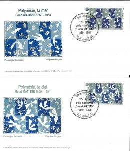 TAHITI / 2019 - (FDC) 150 YEARS OF THE BIRTH OF HENRI MATISSE (Paint), MNH