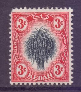 Malaya Kedah Scott 4 - SG2, 1912 Wheatsheaf 3c MH*