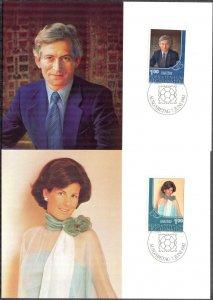 Liechtenstein 1982 Royal Family 2 Maxi Cards FDC