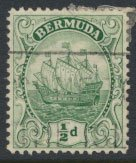 Bermuda  SG 77a SC# 82 Used Green   see details and scan