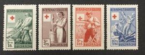 Finland 1949 #b94-7, Red Cross, MNH.