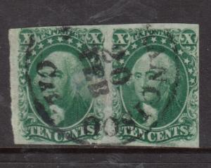 USA #14 Used Fine - Very Fine Pair With S Francisco Cancel