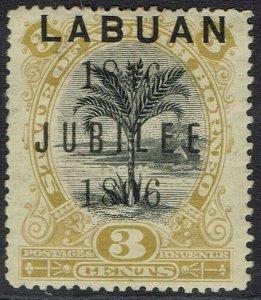 LABUAN 1896 JUBILEE 3C PERF 14.5 - 15
