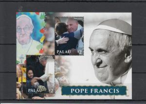 Palau 2014 MNH Pope Francis 2v S/S I Popes Roman Catholic Church