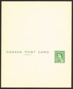 Canada Reply Unused Postcard Unitrade UY84