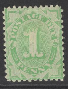 AUSTRALIA SGD35 1902 1d EMERALD-GREEN POSTAGE DUE p11 HEAVY MTD MINT