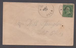 **US 20th Century Cover, SC# 279, Violet, OK, 5/22/1903 CDS, DPO5