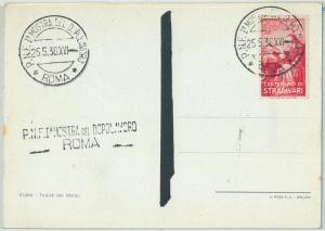 66601 -  ITALY - POSTAL HISTORY -  STAMP on POSTCARD  1938 - MUSIC Stradivari