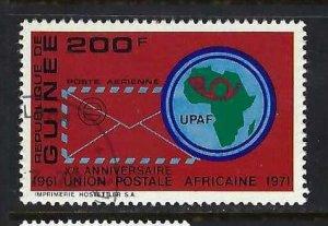 GUINEA C123 VFU MAP Z68-2