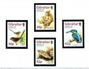 Gibraltar 794-97 MNH 1999 Europa Nature Reserves   (KA)