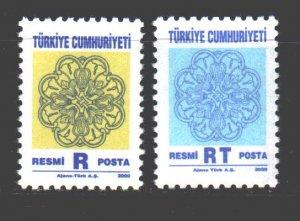 Turkey. 2000. 225-26. National Ornaments of Turkey. MNH.
