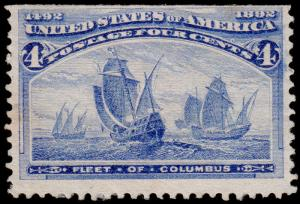 United States Scott 233 (1893) Mint H F, CV $50.00 D