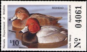 NEVADA #26 2004 STATE DUCK  STAMP REDHEAD by Louis Frisino