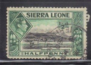 SIERRA LEONE  SC# 173 **USED** 1/2p   1938-44    SEE SCAN
