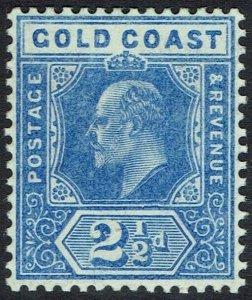 GOLD COAST 1907 KEVII 21/2D