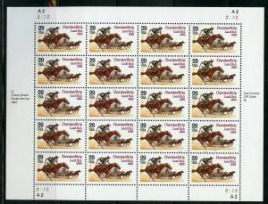 US SCOTT# 2754 CHEROKEE STRIP LAND RUN FULL SHEET OF 20 STAMPS MNH AS SHOWN