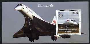CONGO SHEET AVIATION CONCORDE AIRCRAFT