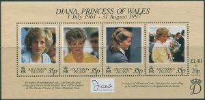 Ascension 1998 SG741 Princess Diana MS MNH