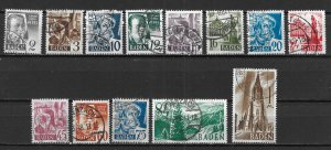 Germany 5N1-13, Various set Used (z4)