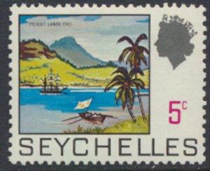 Seychelles  SG 262  SC# 257  MLH  Picault Lands 1969  see details and scans