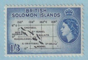 BRITISH SOLOMON ISLANDS 100  MINT NEVER HINGED OG ** NO FAULTS EXTRA FINE!